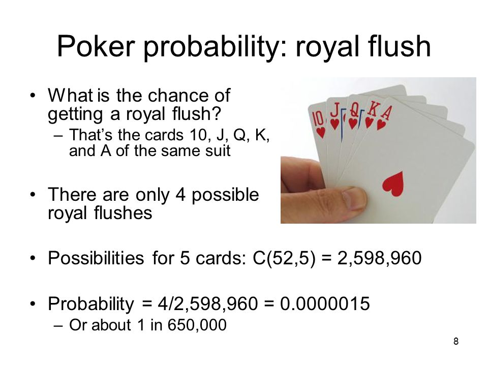 Probability of getting a straight flush in 5 card poker