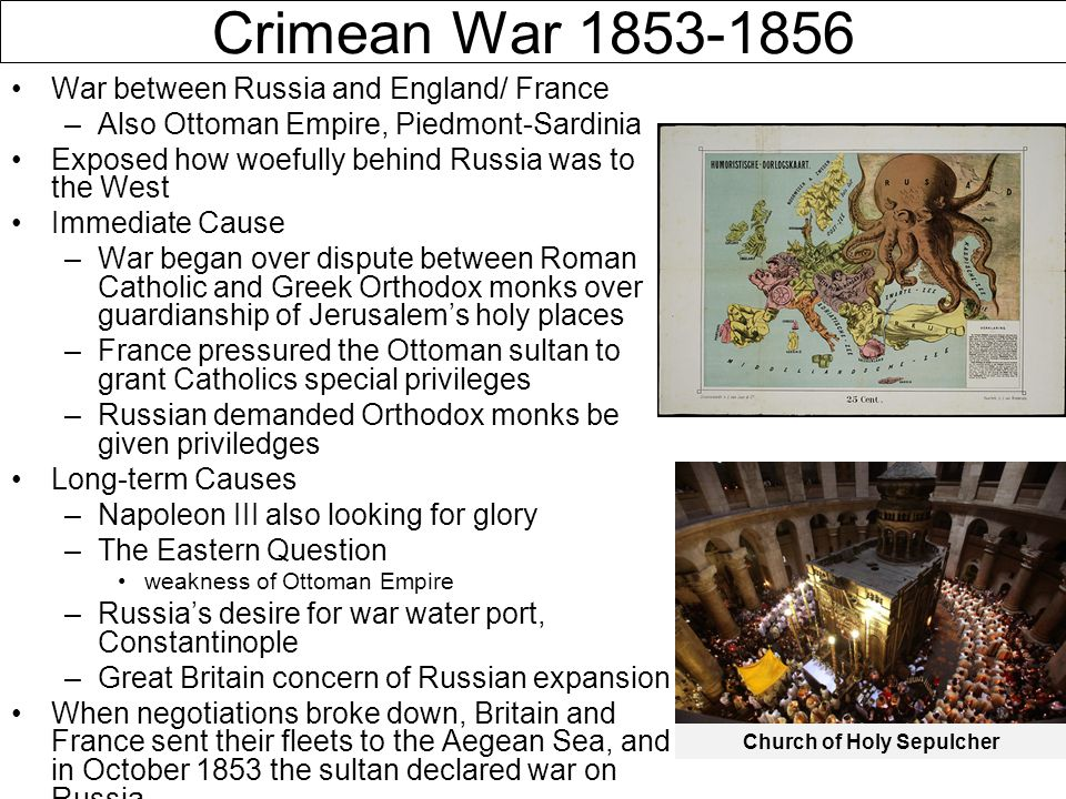crimean war eastern question The crimean war lasted from march 28, 1853 until april 1, 1856 and was   determined to address the eastern question by putting an end to.