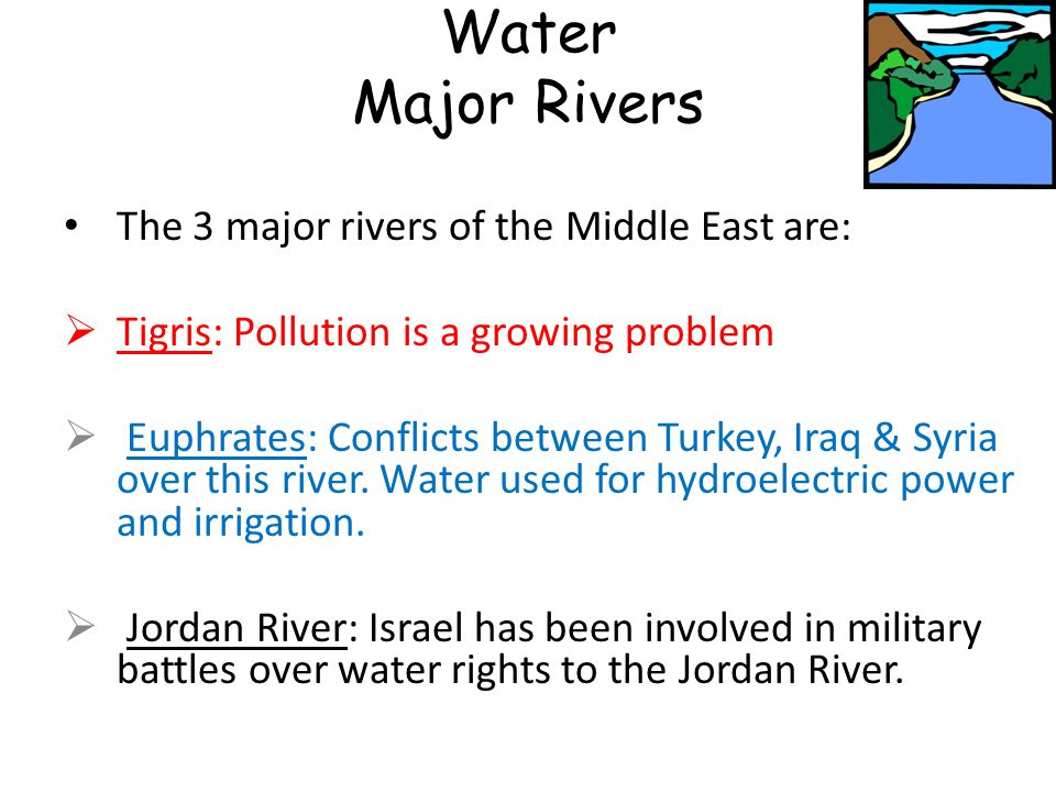 Geography Of The Middle East At A Glance Ppt Video Online Download - 3 major rivers