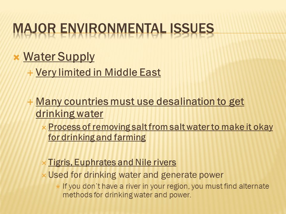 Middle East Human Environment Interaction Ppt Video