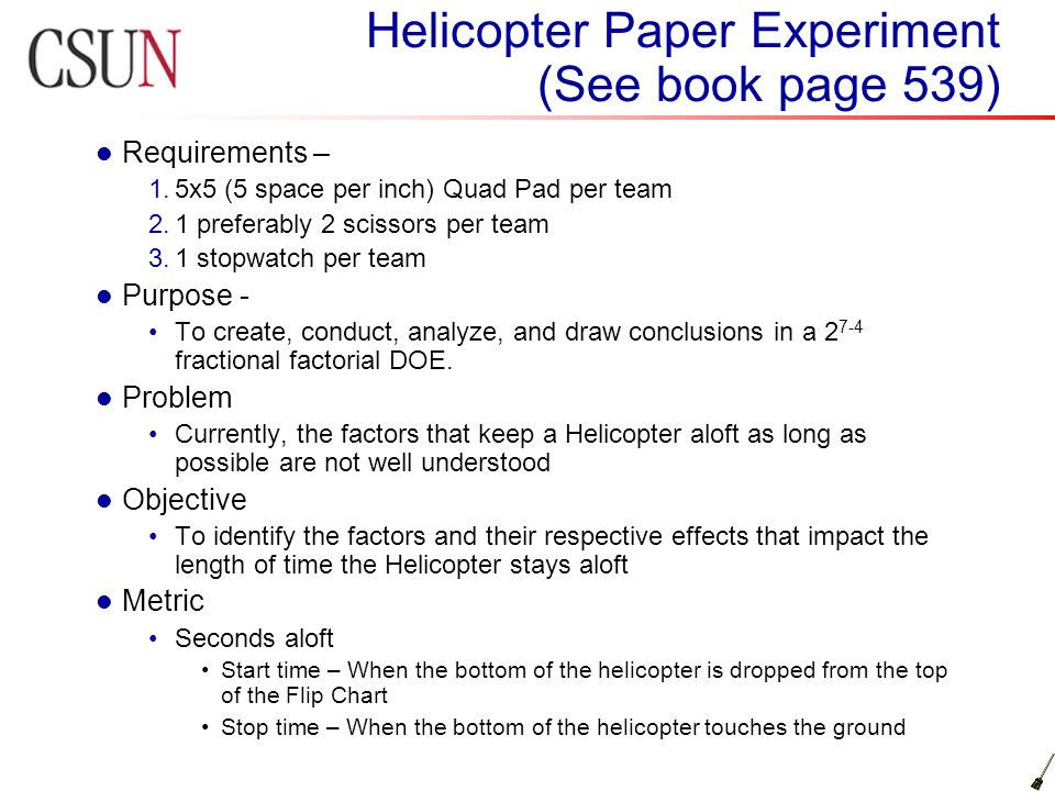 description of the experiments essay The art of writing descriptive research papers for writing a good descriptive paper writers need to select interesting research paper your essay or term.