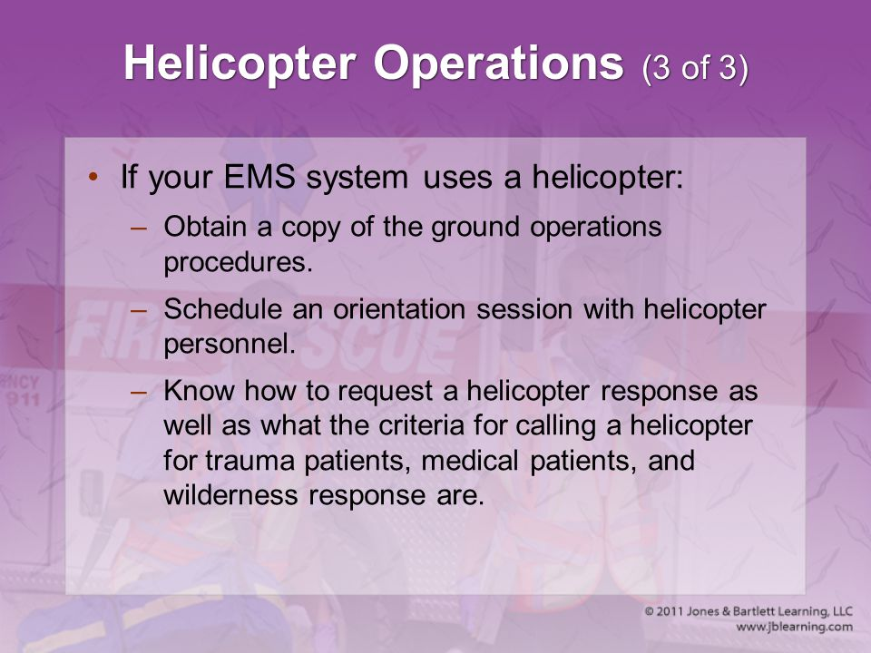 Helicopter Operations (3 of 3)