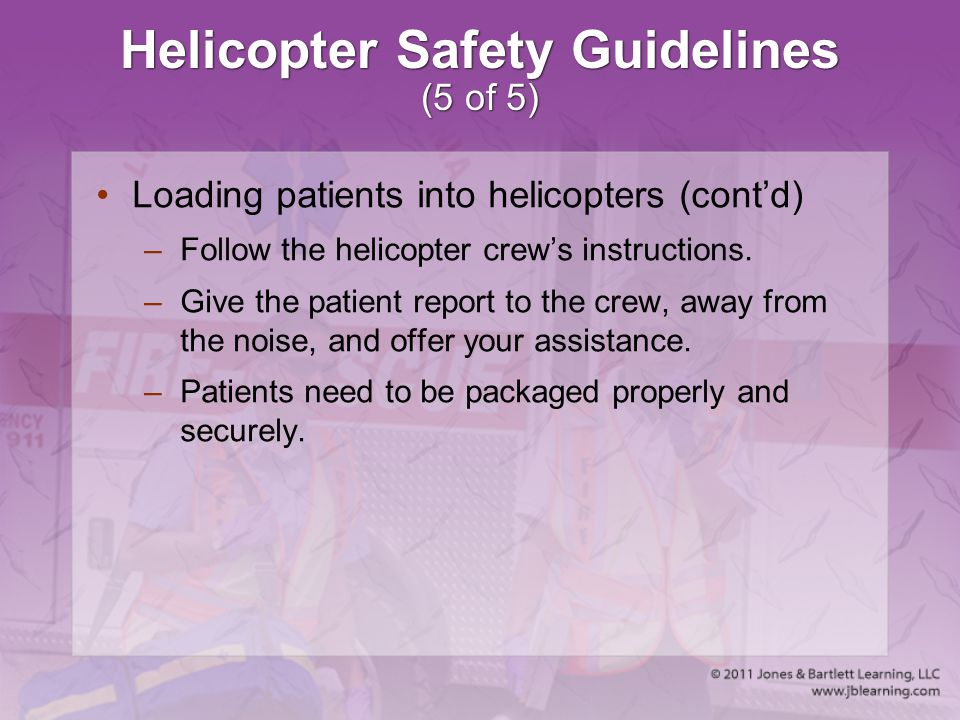 Helicopter Safety Guidelines (5 of 5)