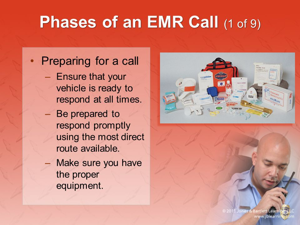 Phases of an EMR Call (1 of 9)