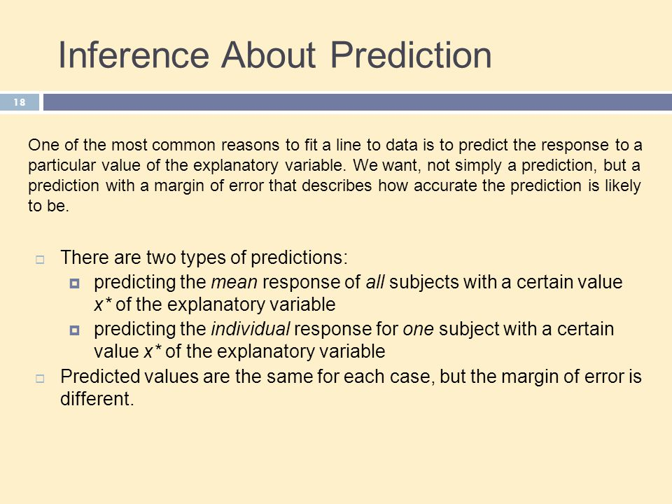 Inference About Prediction