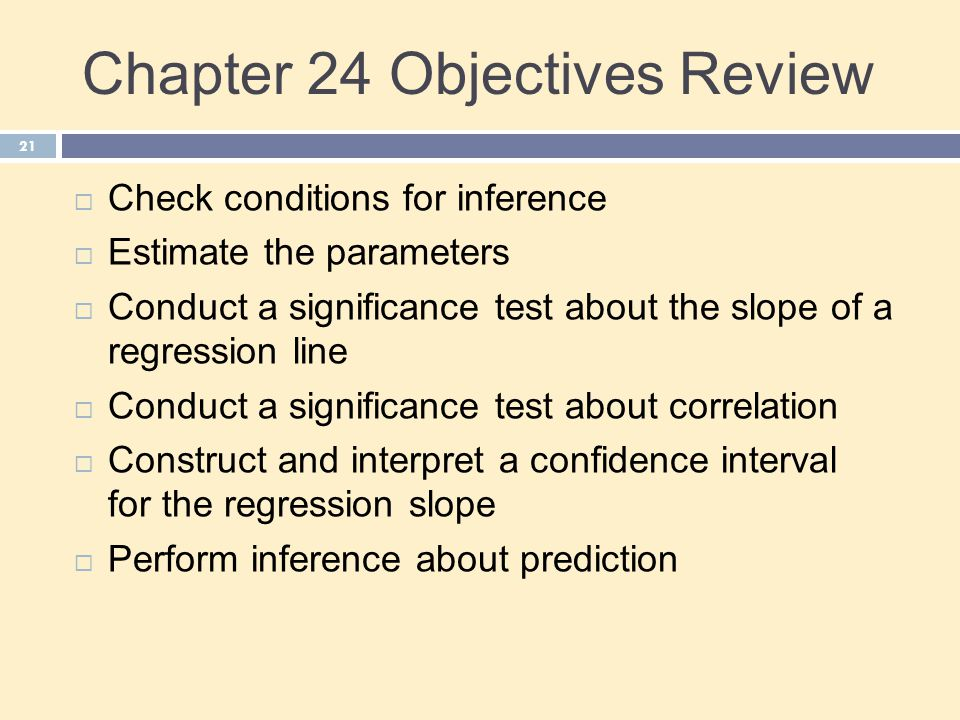Chapter 24 Objectives Review