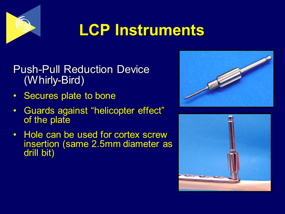 Implants instruments ppt video online download lcp instruments push pull reduction device whirly bird sciox Images