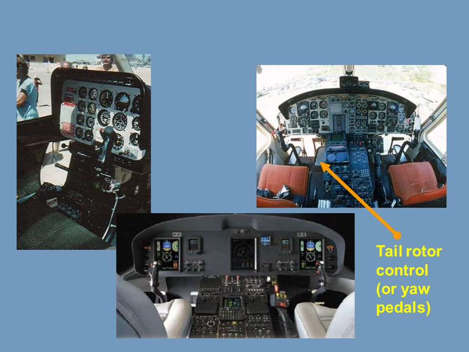 Tail rotor control (or yaw pedals)