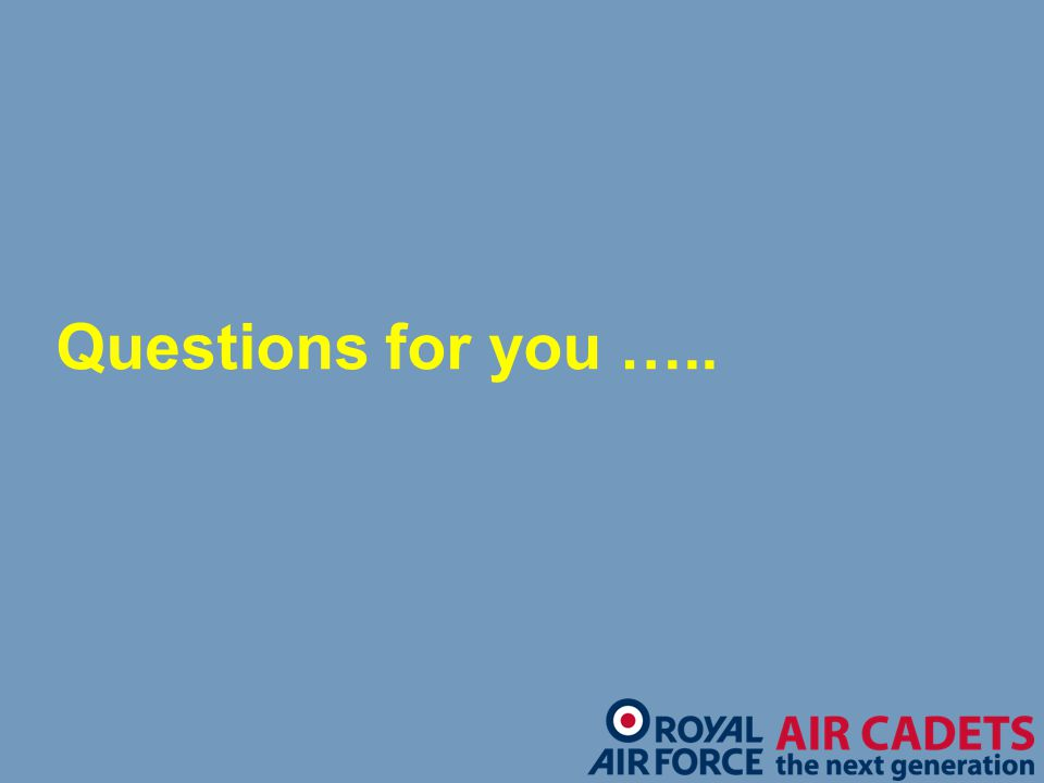 Questions for you …..