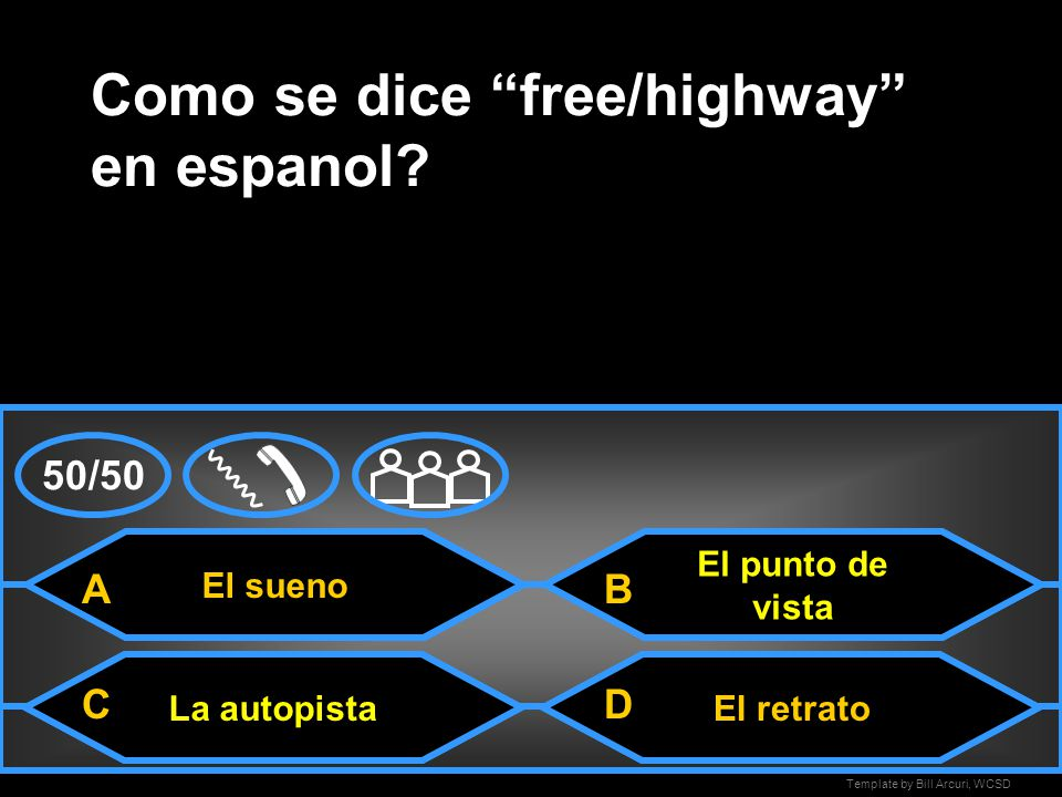 Como se dice free/highway en espanol