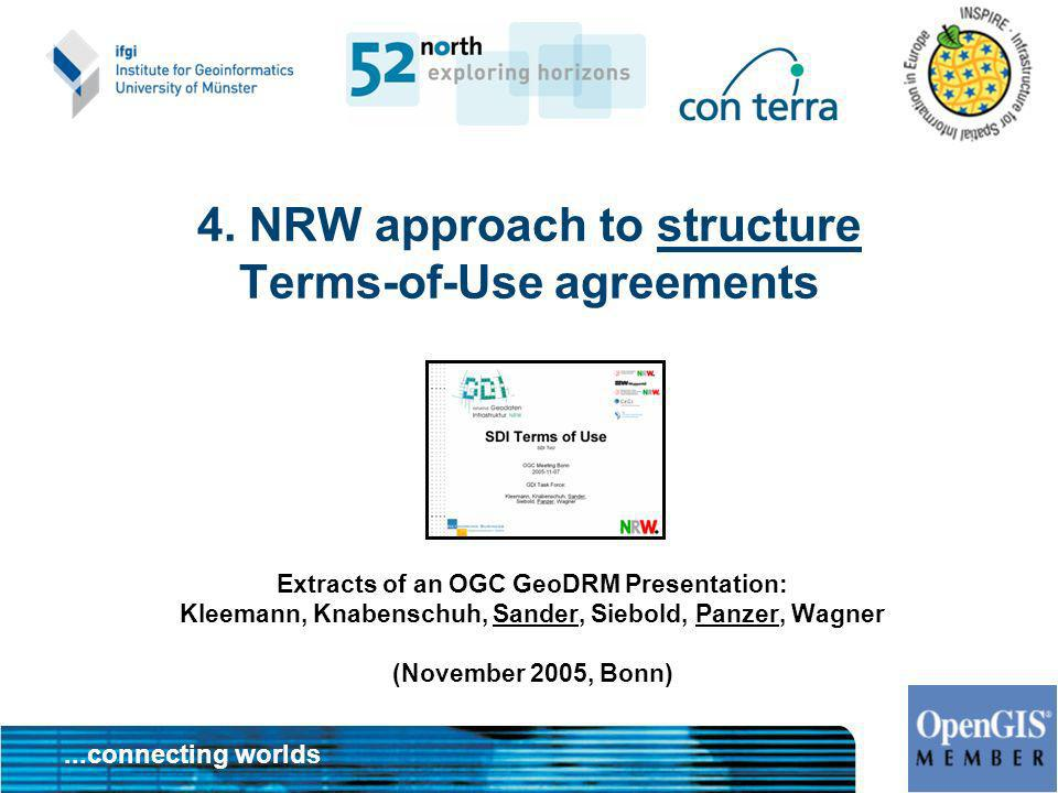 4. NRW approach to structure Terms-of-Use agreements
