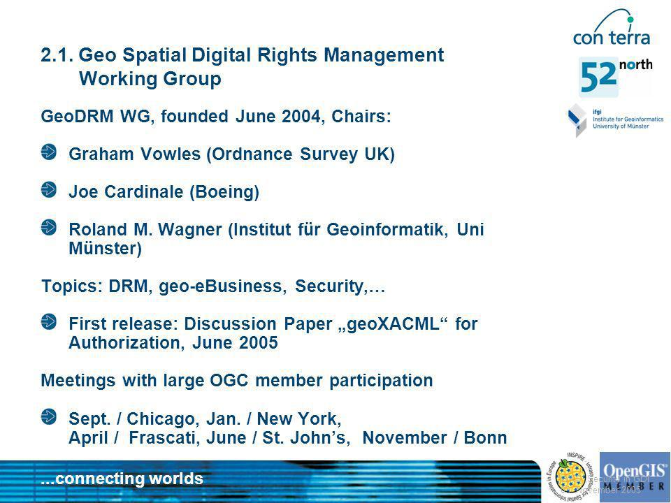 2.1. Geo Spatial Digital Rights Management Working Group