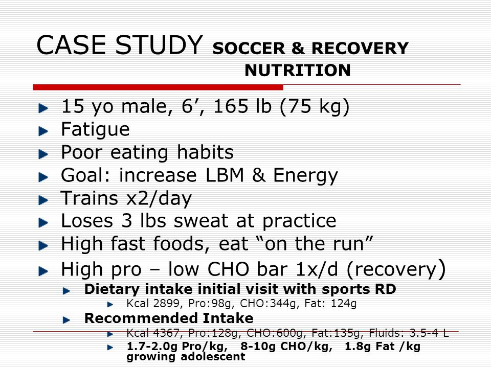 Case Study Of Chocolate Milk As Sports Drink
