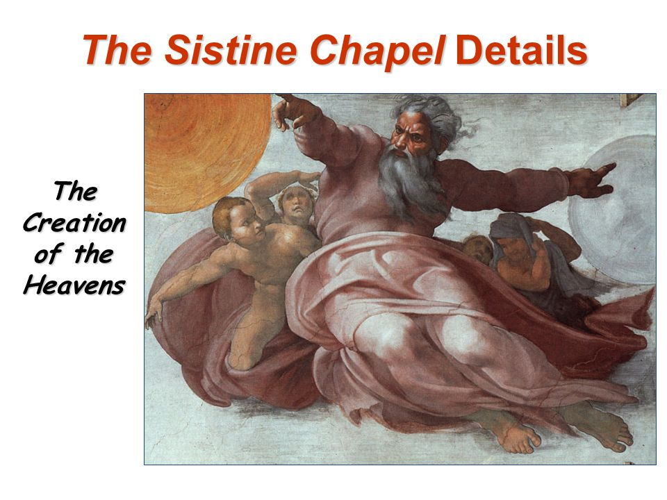 The Sistine Chapel Details The Creation of the Heavens