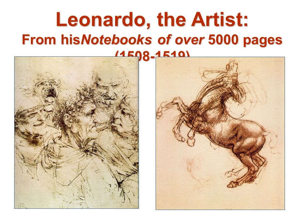 Leonardo, the Artist: From hisNotebooks of over 5000 pages ( )