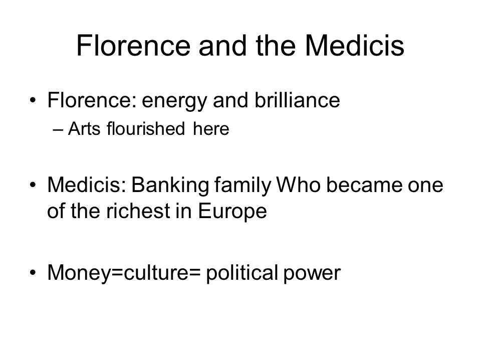Florence and the Medicis