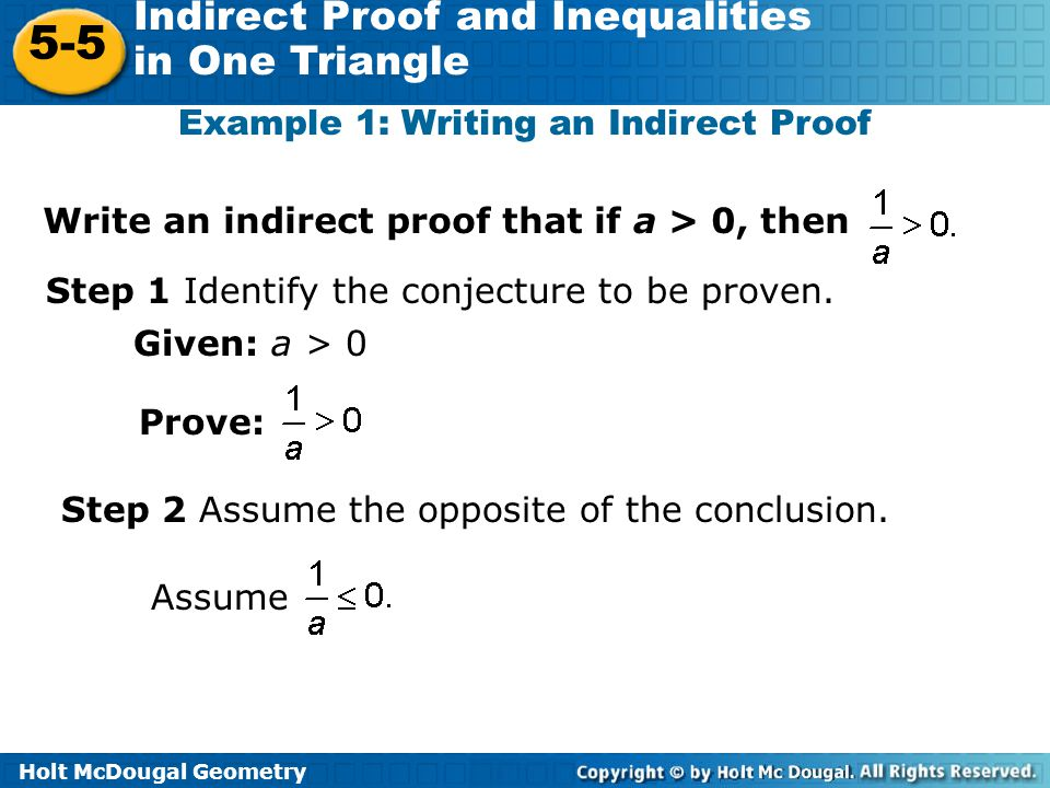 55 Indirect Proof and Inequalities in One Triangle Warm Up ppt – Indirect Proof Worksheet