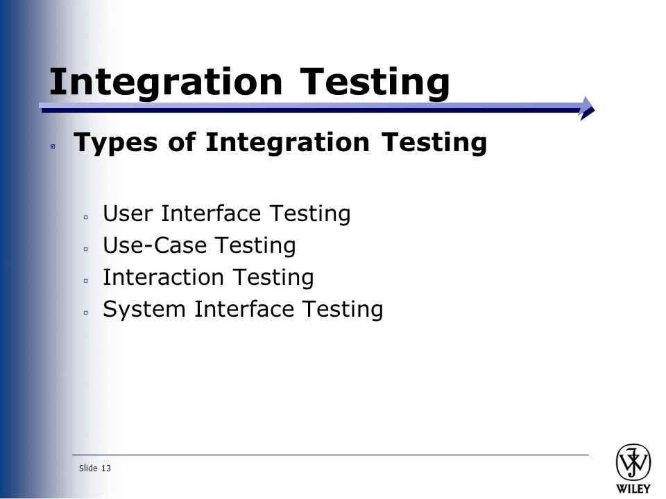 integration and system testing essay Integration testing is the phase in software testing in which individual software modules are combined and tested as a group it occurs after unit testing the basic difference in integration testing and system testing is about its approach and scale in system testing the basic code level knowledge of.
