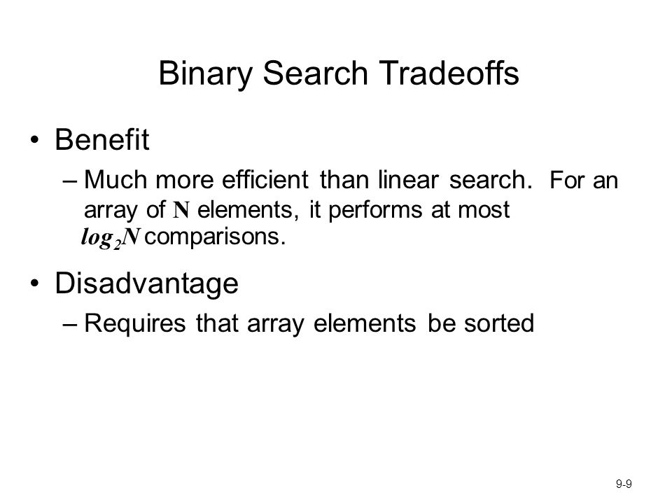Binary Search Tradeoffs