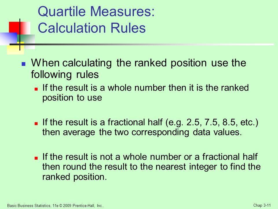 Quartile Measures: Calculation Rules