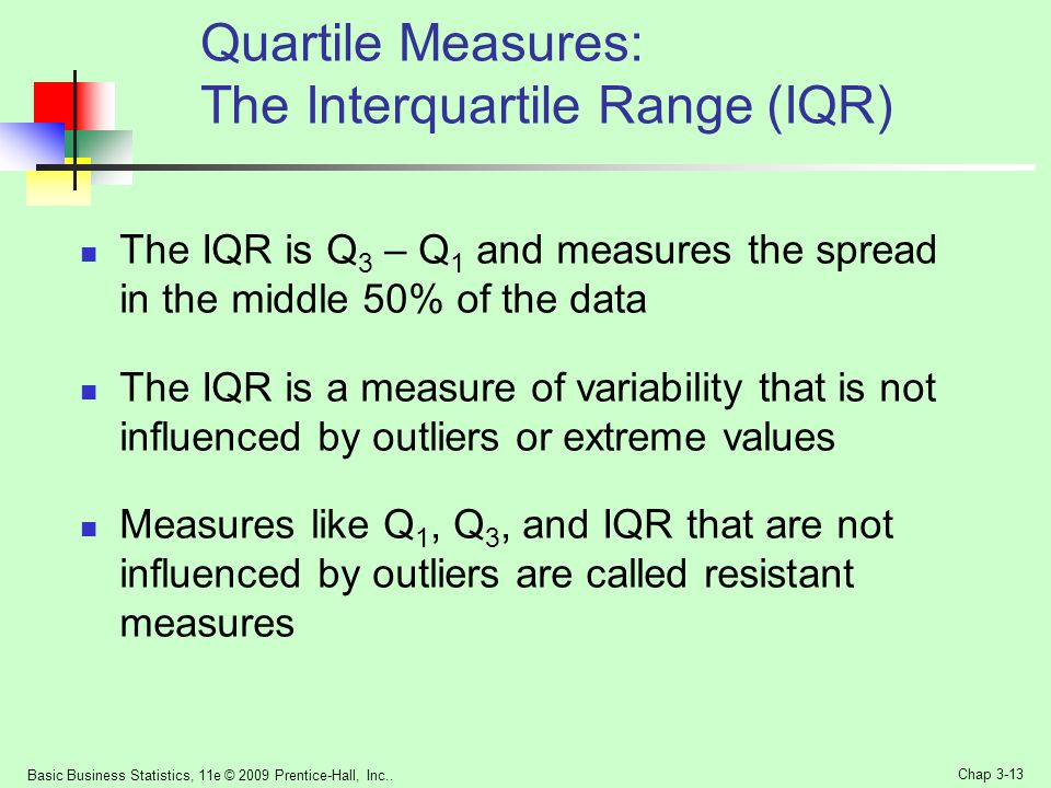 Quartile Measures: The Interquartile Range (IQR)