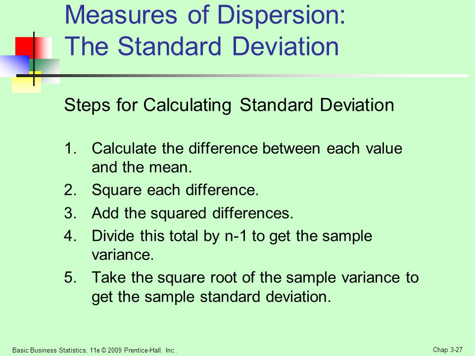 Measures of Dispersion: The Standard Deviation