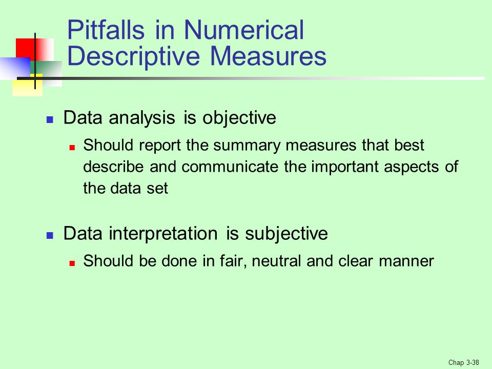 Pitfalls in Numerical Descriptive Measures