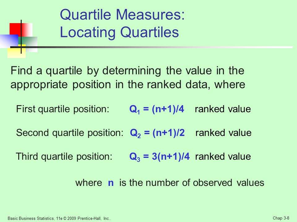 Quartile Measures: Locating Quartiles