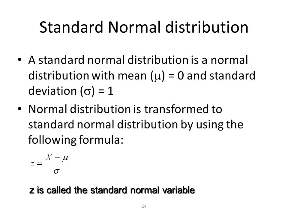 how to find mean and standard deviation normal distribution