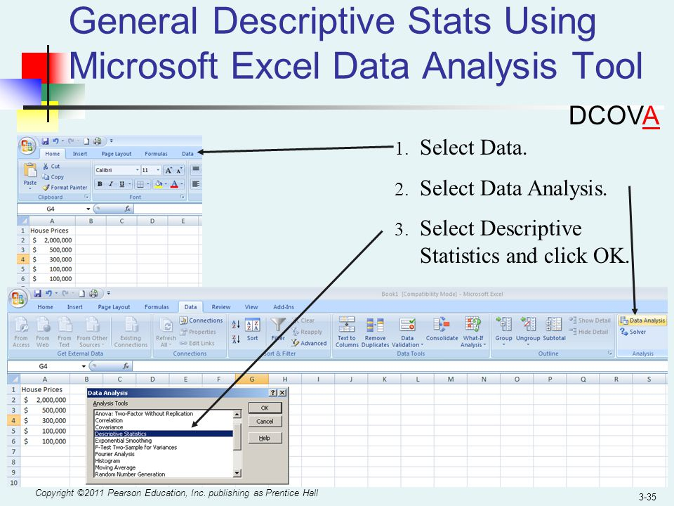 descriptive statistics using excel essay A descriptive statistic is a summary statistic that quantitatively describes or  summarizes features of a collection of.