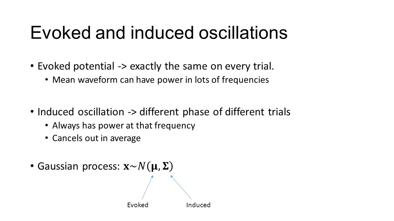 Evoked and induced oscillations