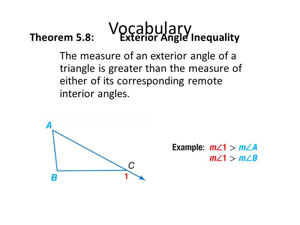 Lesson 5 3 Inequalities In One Triangle Ppt Download