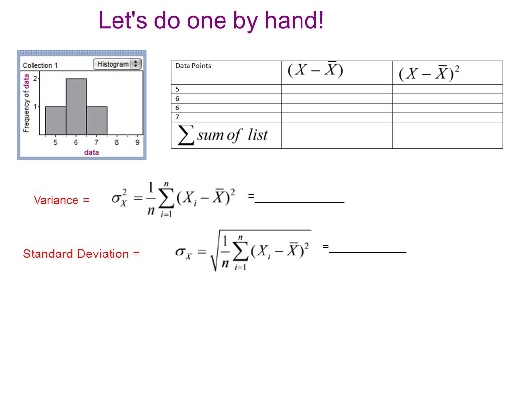 Image Collection How To Calculate Standard Deviation From Mean And ...