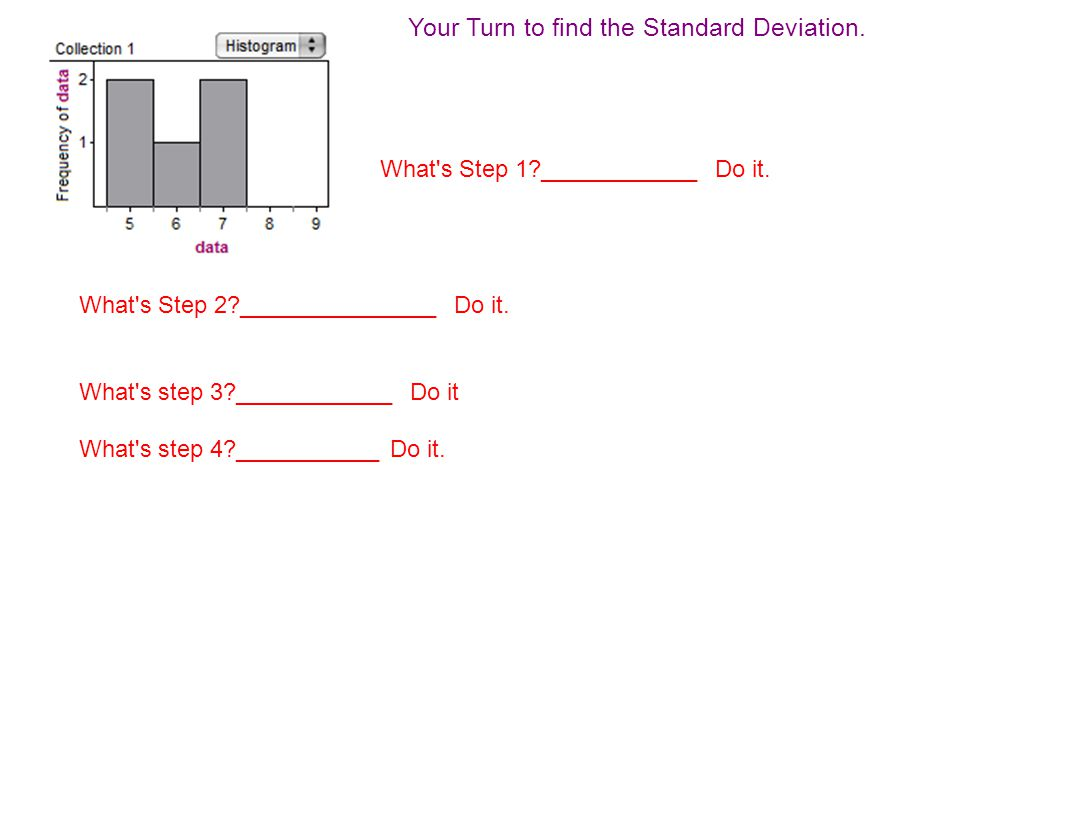 How To Calculate Standard Deviation On Ti 83 Your Turn To Find The Standard  Deviation