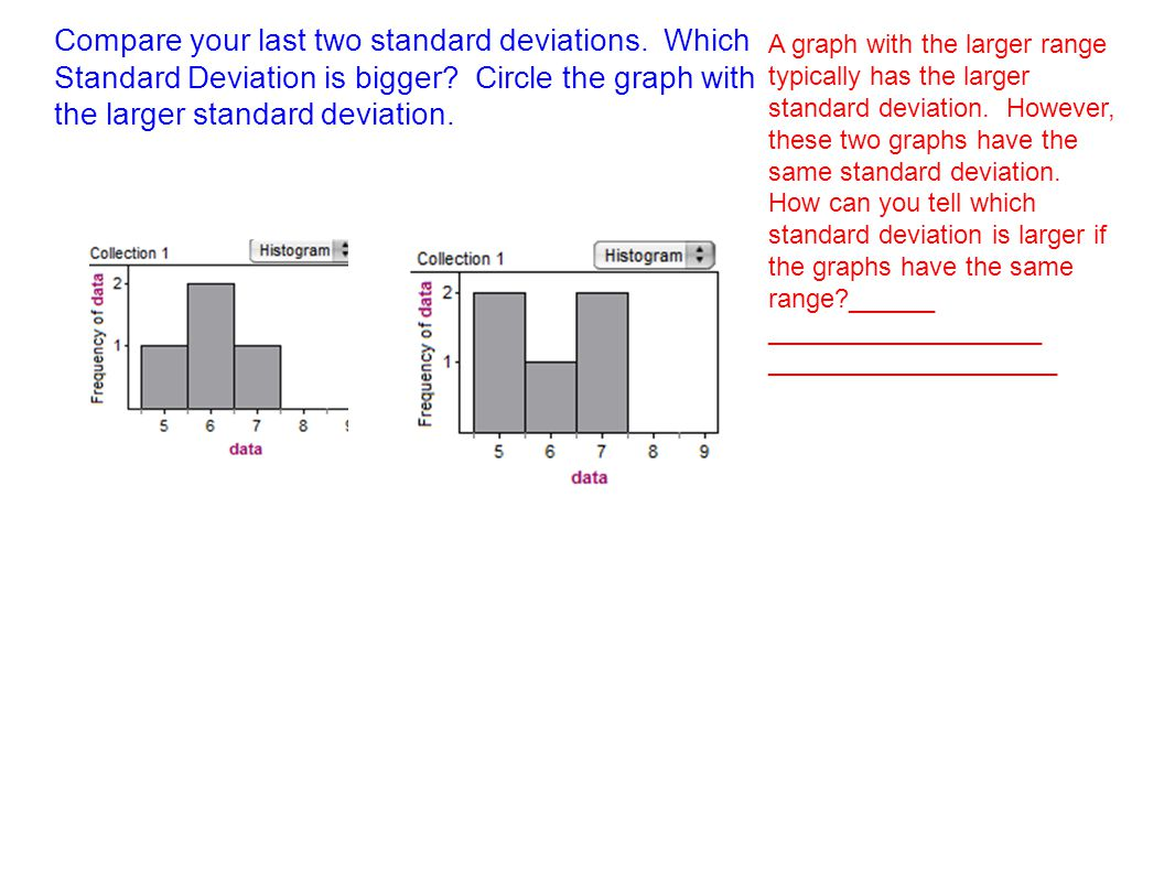 Compare Your Last Two Standard Deviations