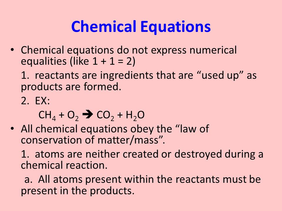 Worksheets All Chemistry Equations chapter 6 intro to chemical reactions ppt download equations