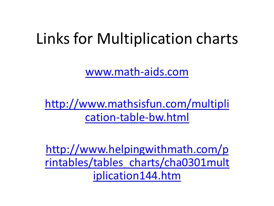 Helping students make their own multiplication chart - ppt download