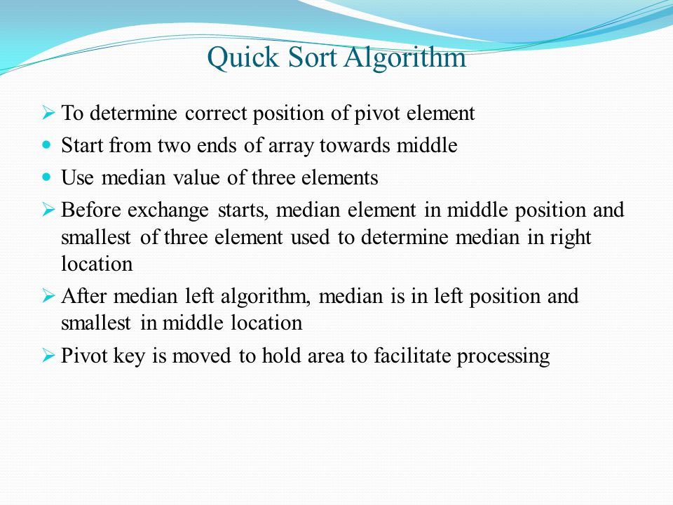 Lesson plan 2 bubble sort quick sort ppt video online download 21 quick sort algorithm to determine ccuart Images