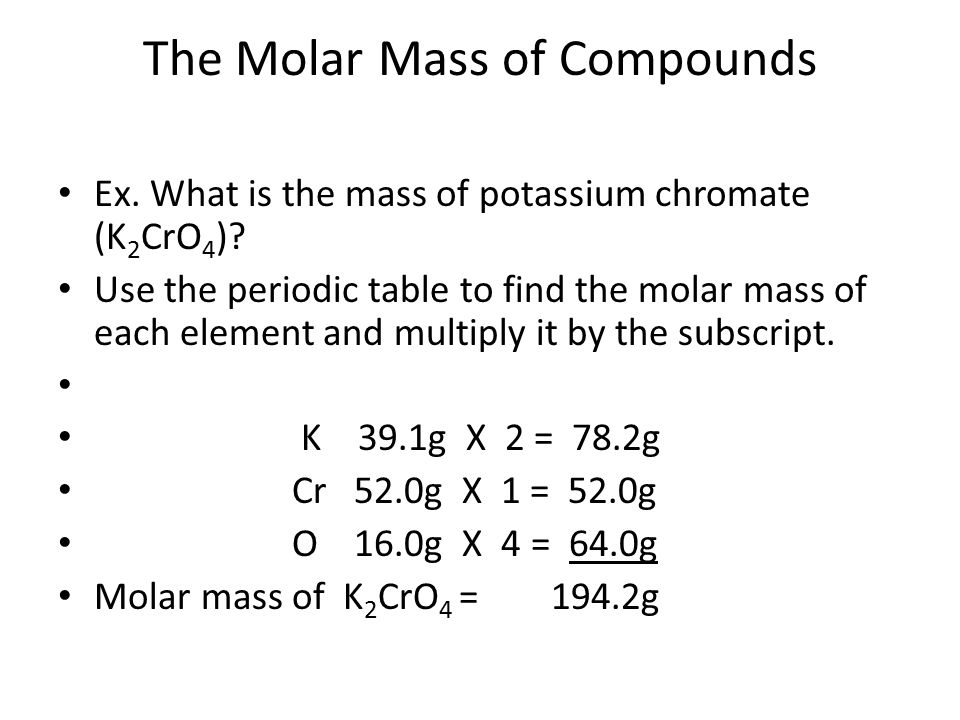 The mole ppt video online download the molar mass of compounds urtaz Image collections
