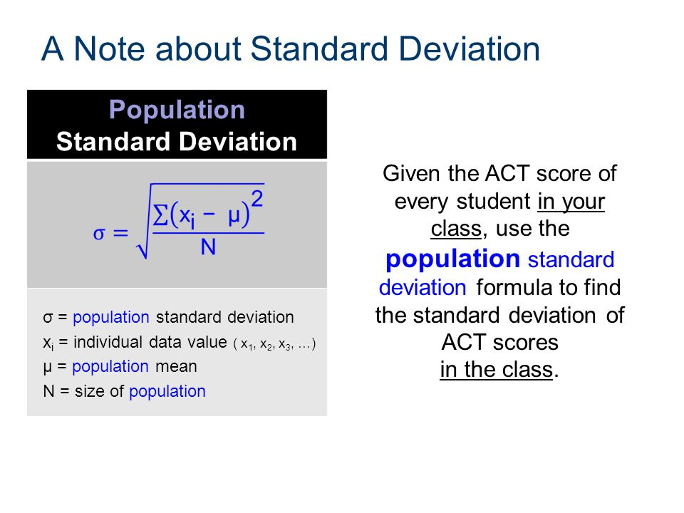 A Note about Standard Deviation