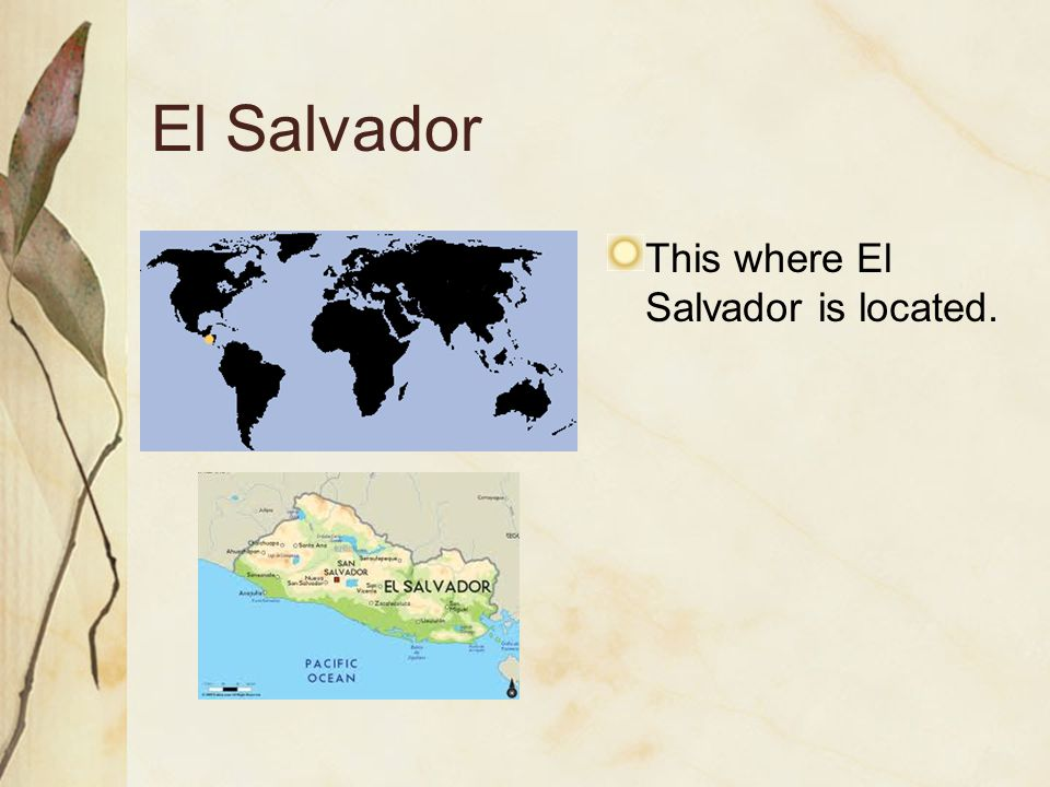 El Salvador This where El Salvador is located.
