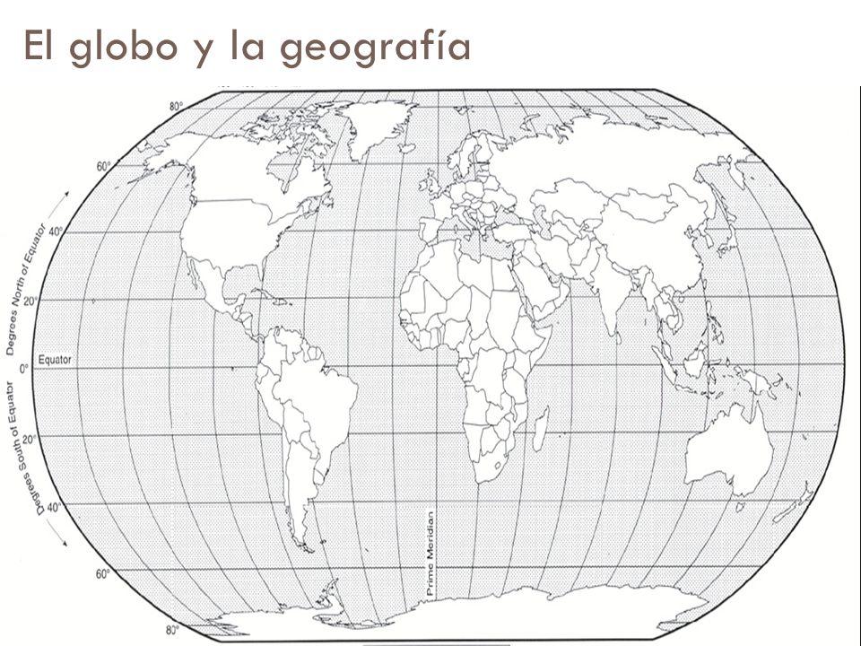 El globo y la geografía
