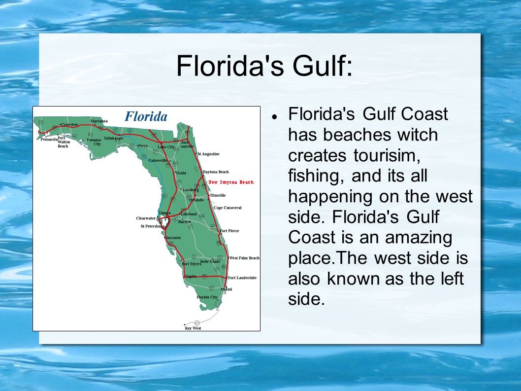 Florida 39 s landforms ppt video online download for Florida gulf coast fishing
