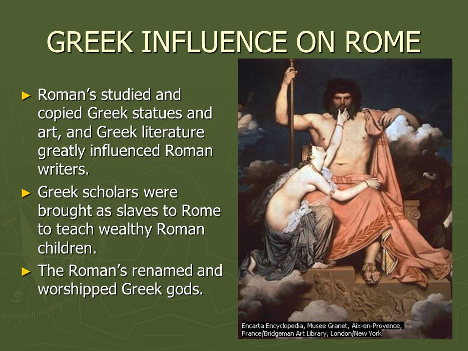explain the relationship between greek and roman art