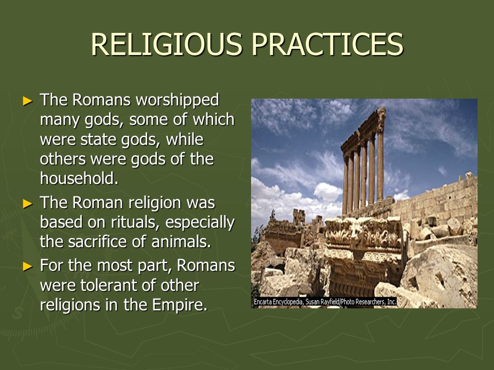 roman state religion essay Roman religion - conclusion: though roman religion never produced a comprehensive code of conduct, its early rituals of house and farm engendered a feeling of duty and unity its idea of reciprocal understanding between man and god not only imparted the sense of security that romans needed in order to achieve their successes but stimulated, by analogy, the concept of mutual obligations and.