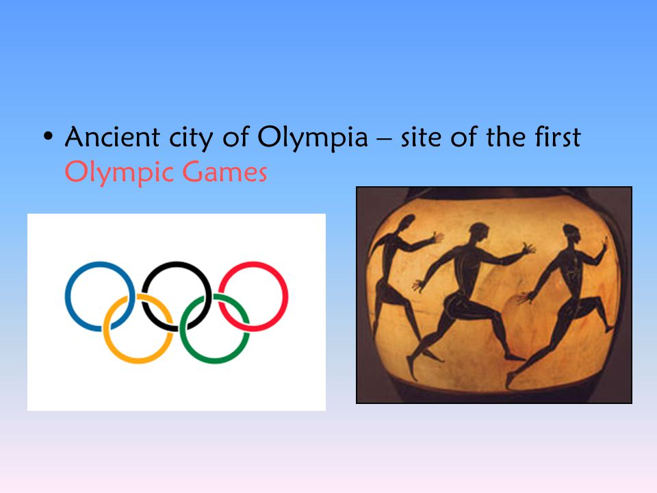 Ancient city of Olympia – site of the first Olympic Games