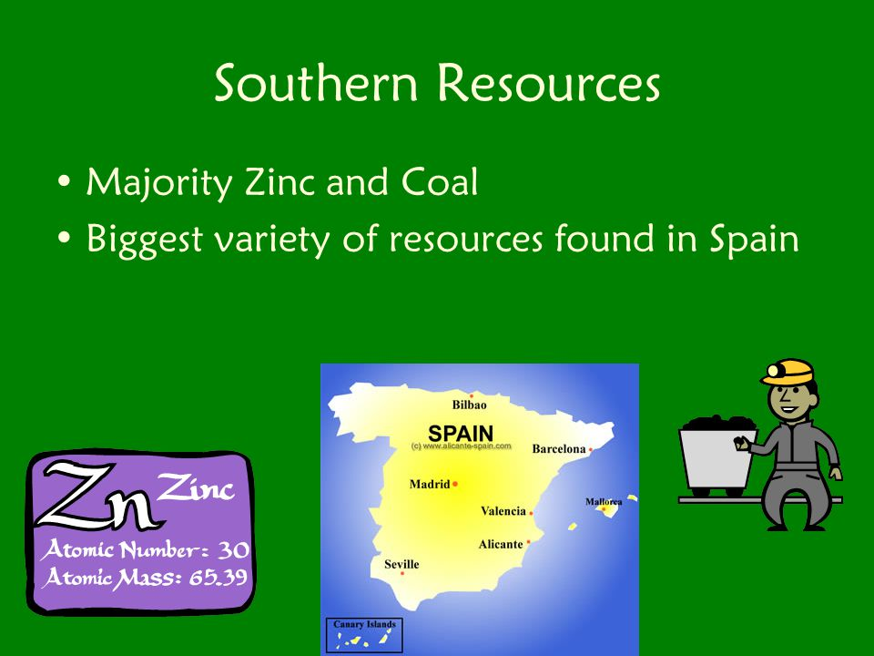 Southern Resources Majority Zinc and Coal