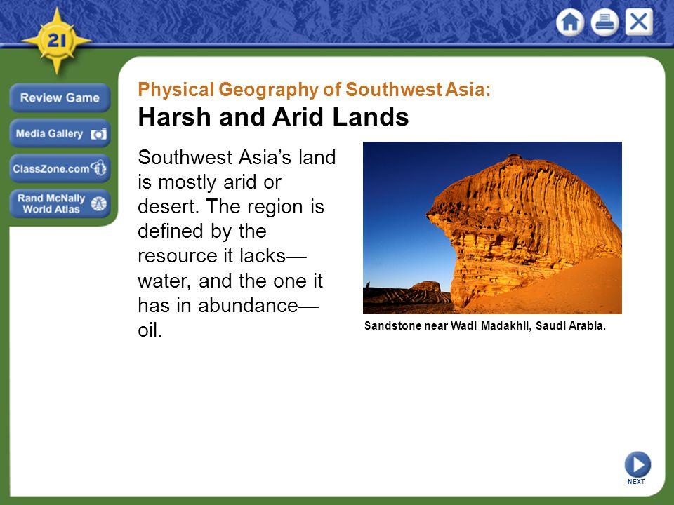 Southwest region landforms
