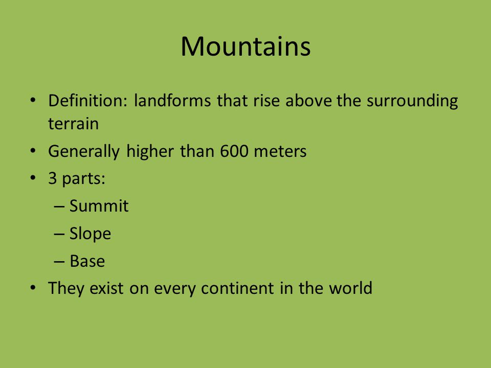 landforms by miss scheftic ppt video online download. Black Bedroom Furniture Sets. Home Design Ideas