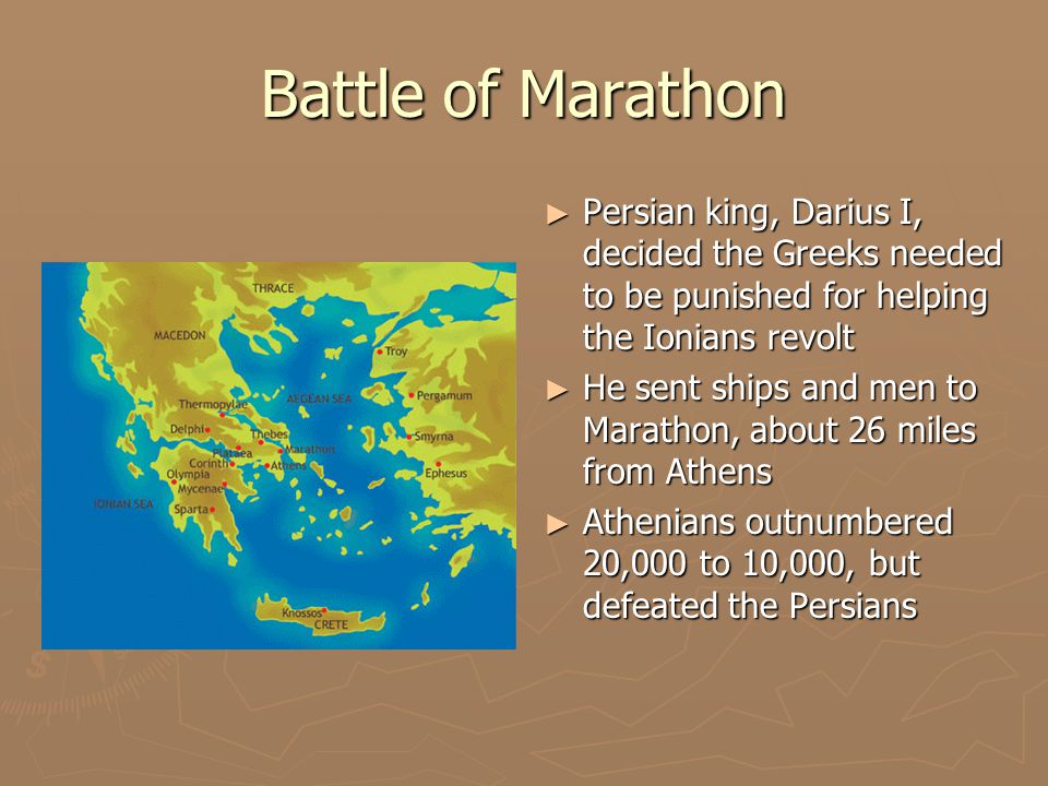 why were the greeks defeated at Western democracy, culture and philosophy were on the line when the greeks faced the persians at marathon by jason k foster  had marathon been a defeat and .